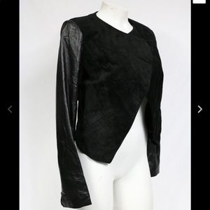 Bebe XS Moto Black leather and suede jacket